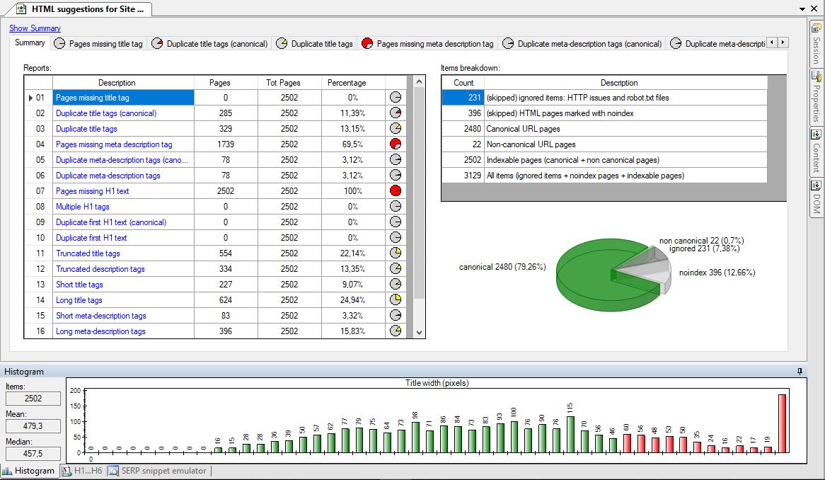 Visual SEO Studio full screenshot