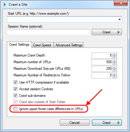 A new crawl option in Visual SEO Studio
