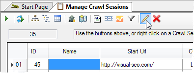 Renaming a Crawl Session