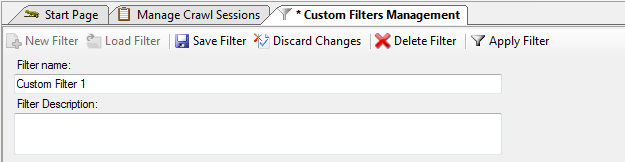Custom Filters can now be persisted