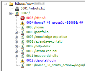 Visual SEO Studio crawl view with 'Cross HTTP/HTTPs boundaries' crawl option enabled