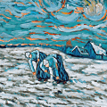 'Two Peasant Women Digging in the Snow', 