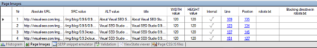 Page Images - Visual SEO Studio