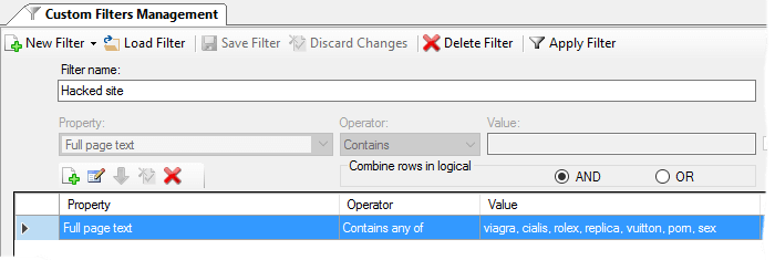 'Contains-Any-Of' Custom Filter operator