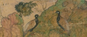 Partridges (detail cut from public domain artwork)