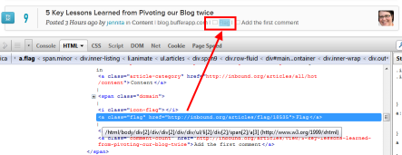Inbound.org flag links are followed - seen with Firebug