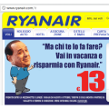 Funny Ryanair Ad depicts Berlusconi