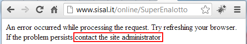 The silliest error message on the Web