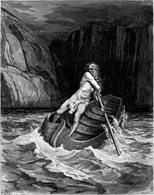 Depiction of Charon in 'Divina Commediaì - Gustave Doré, 1857 - Public Domain image
