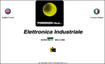 Power Gen Italia web site on 2003