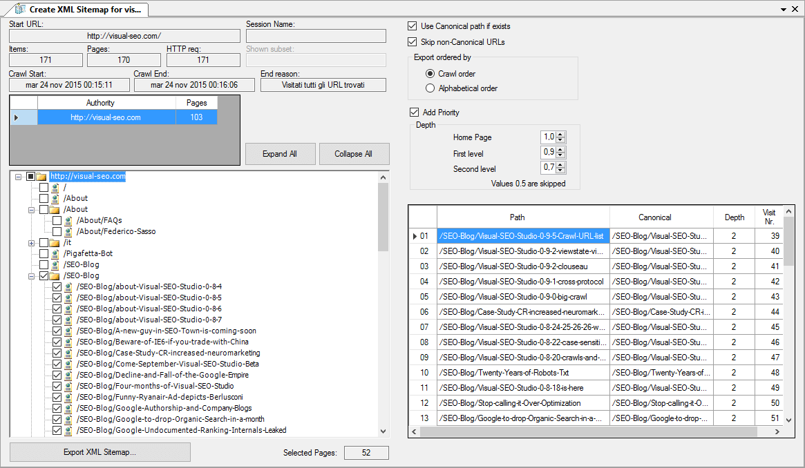 Visual XML Sitemaps Tools