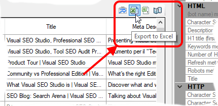 Export to Excel helper button