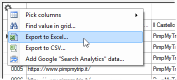 Data Extraction, Export to Excel