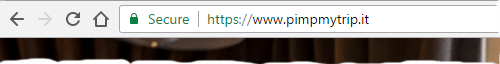 HTTPS address with no mixed content, with the reassuring lock symbol